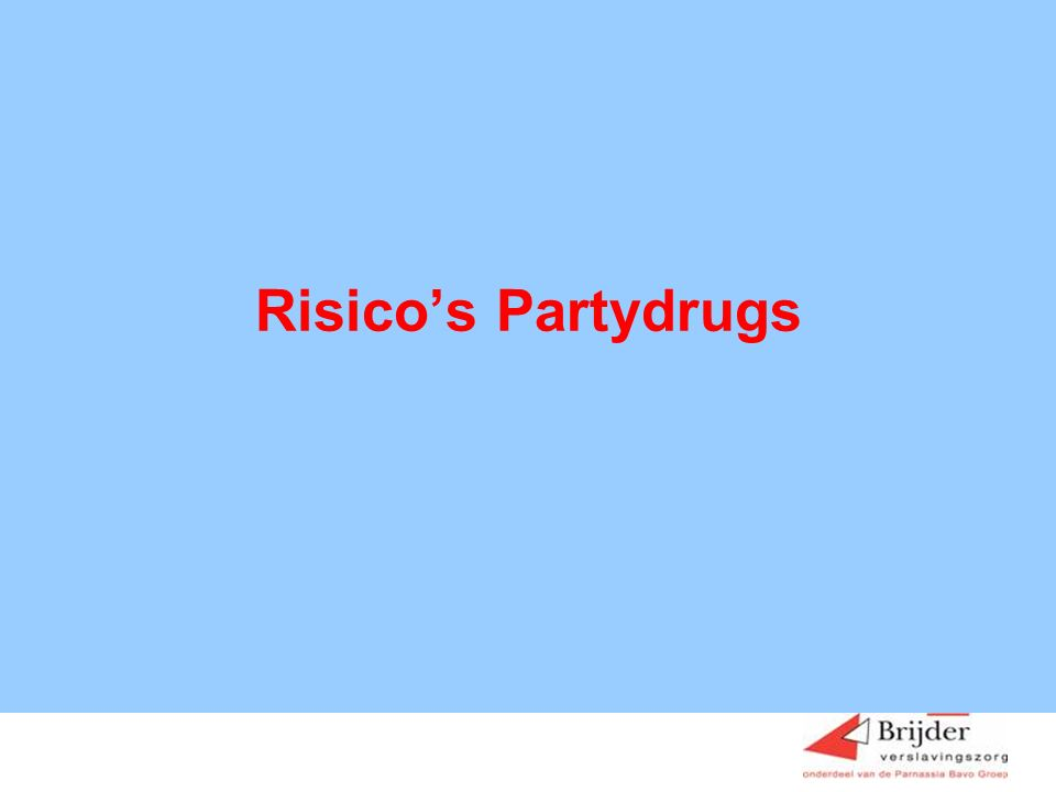 Risico's Partydrugs