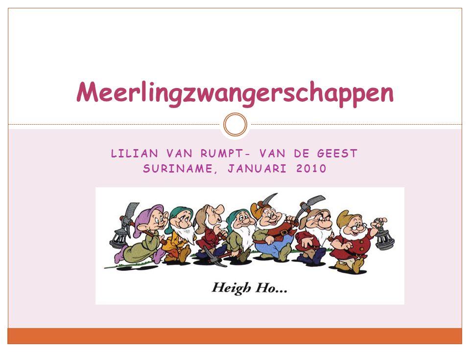 LILIAN VAN RUMPT- VAN DE GEEST SURINAME, JANUARI 2010 Meerlingzwangerschappen