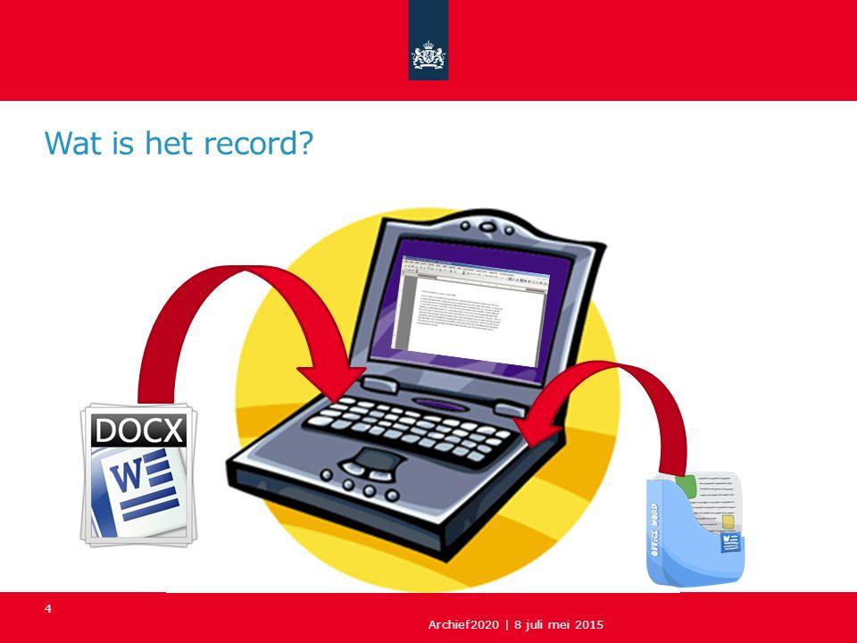 5 Record Bestand (b.v.tekst.docx) Applicatiesoftware (b.v.
