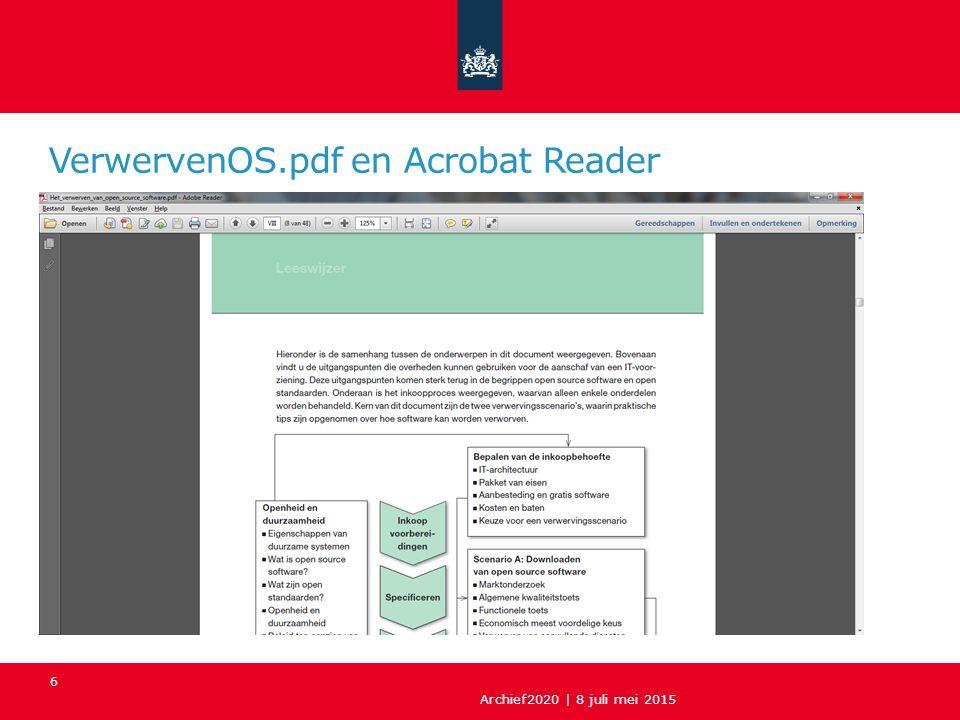VerwervenOS.pdf en Acrobat Reader Archief2020 | 8 juli mei 2015 6