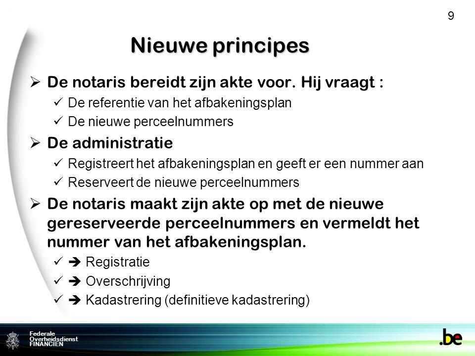 Federale Overheidsdienst FINANCIEN Nieuwe principes  De notaris bereidt zijn akte voor.