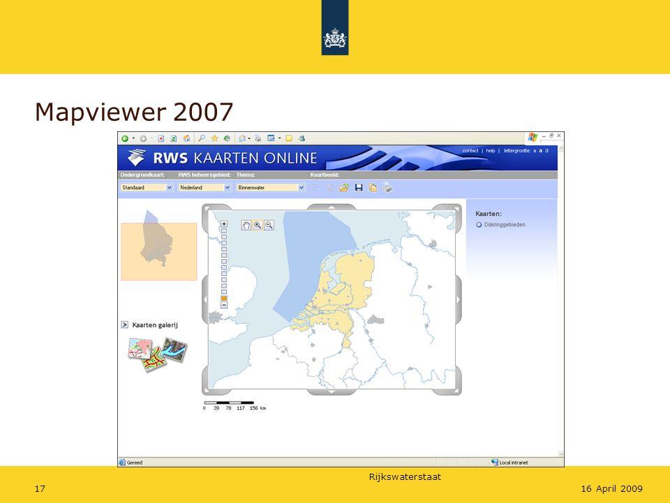 Rijkswaterstaat 1716 April 2009 Mapviewer 2007
