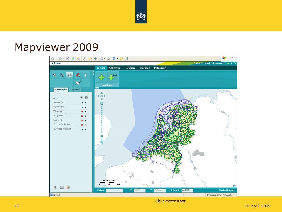 Rijkswaterstaat 1816 April 2009 Mapviewer 2009