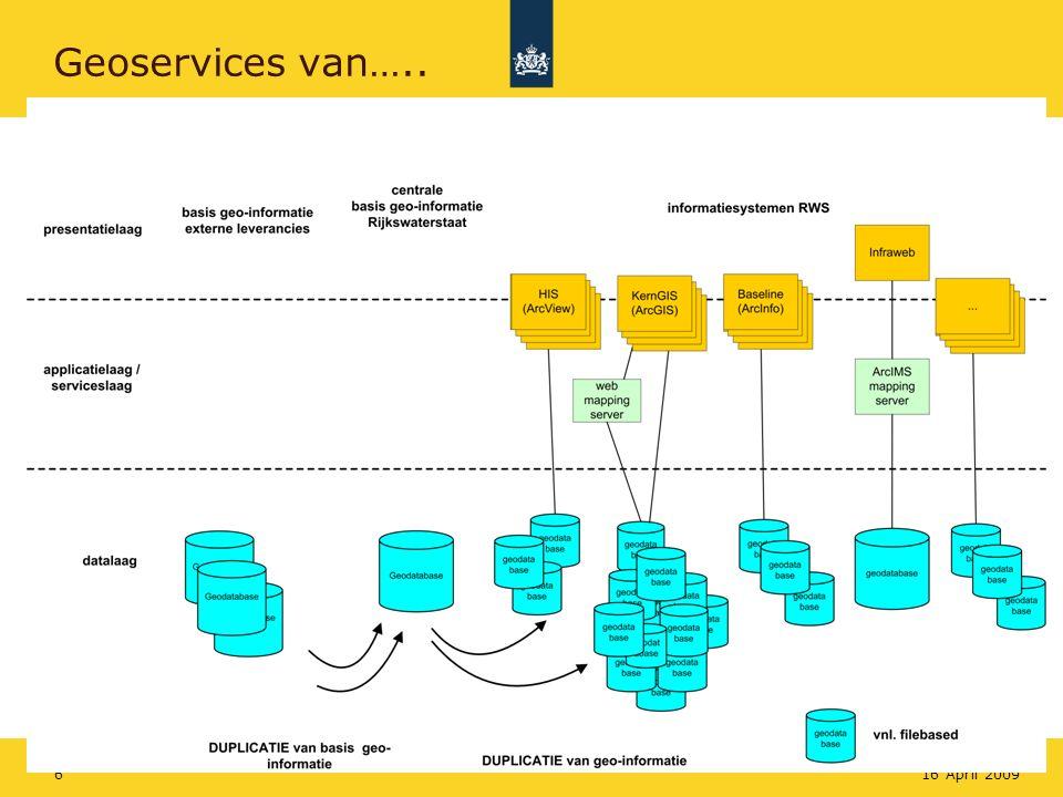 Rijkswaterstaat 616 April 2009 Geoservices van…..