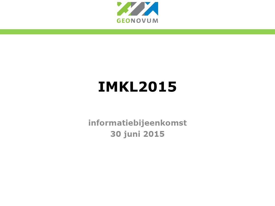 IMKL2015 informatiebijeenkomst 30 juni 2015