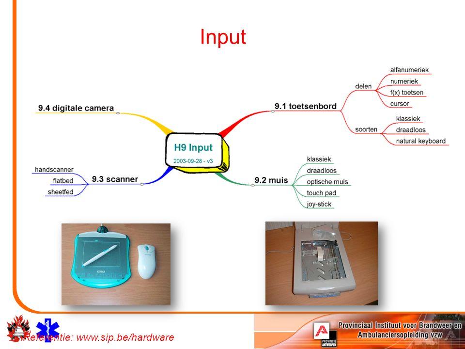 Input Referentie: www.sip.be/hardware