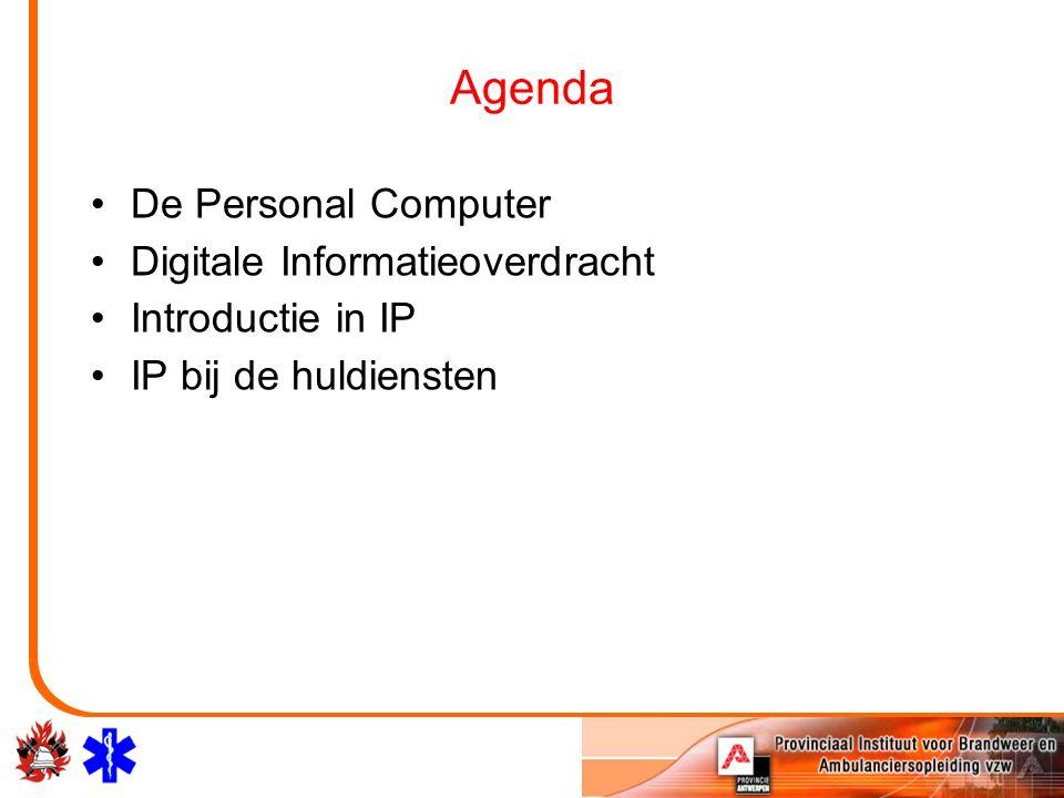 Agenda De Personal Computer Digitale Informatieoverdracht Introductie in IP IP bij de huldiensten