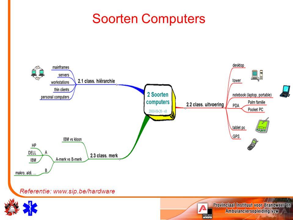 Soorten Computers Referentie: www.sip.be/hardware