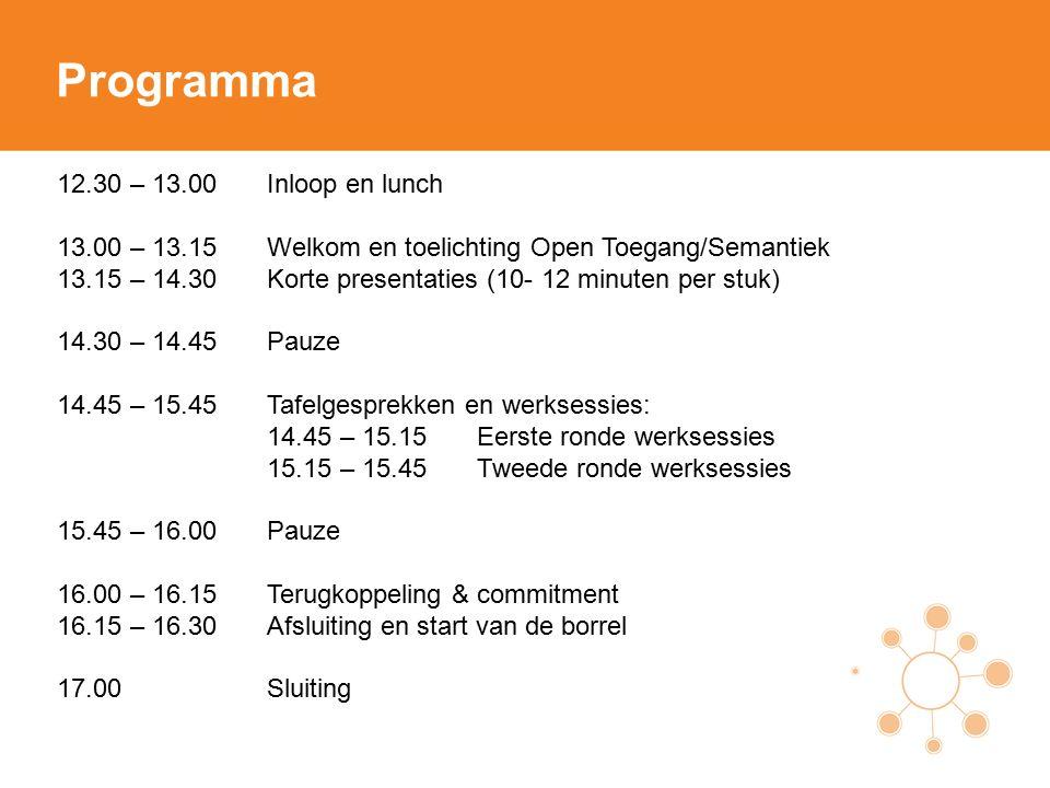 22-06-2015 Kick-off Open Toegang / Semantisering Tine van Nierop, Projectleider Open Toegang Chido Houbraken, Projectleider Semantisering