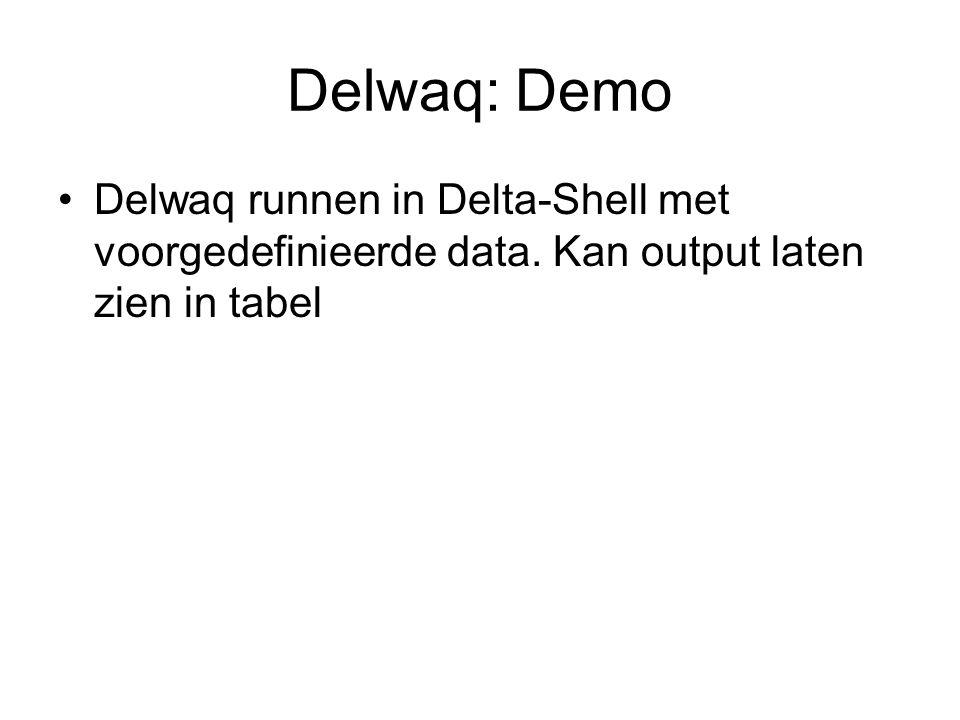 Delwaq: Demo Delwaq runnen in Delta-Shell met voorgedefinieerde data.