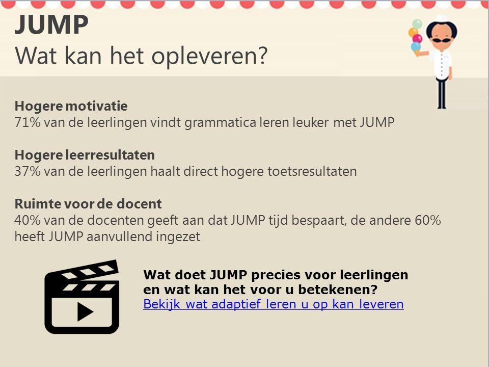 JUMP Wat kan het opleveren.
