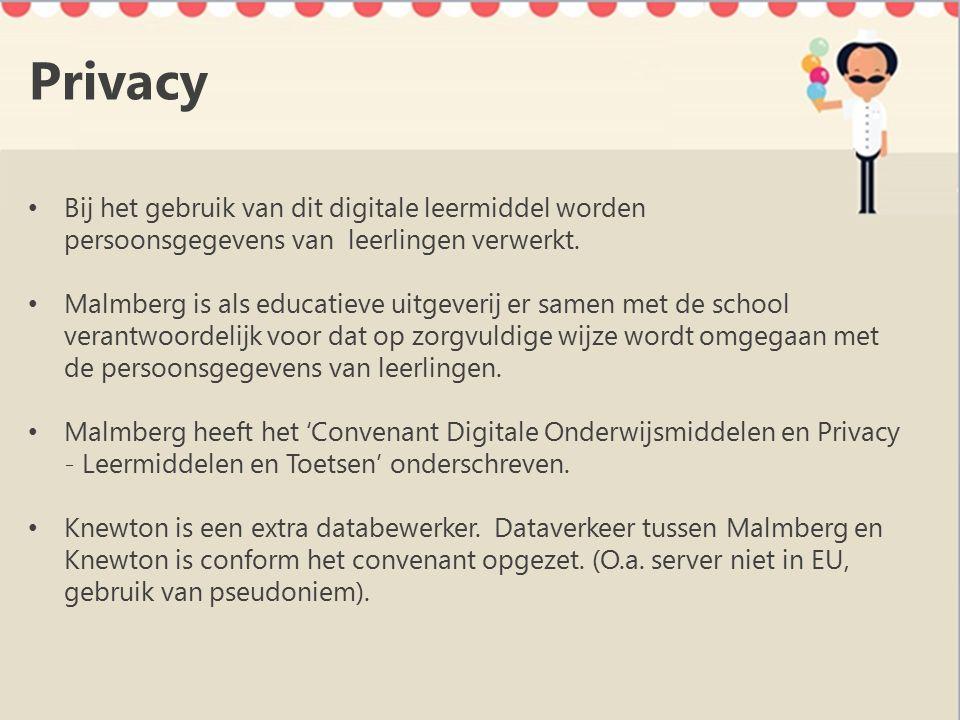 Privacy Bij het gebruik van dit digitale leermiddel worden persoonsgegevens van leerlingen verwerkt.