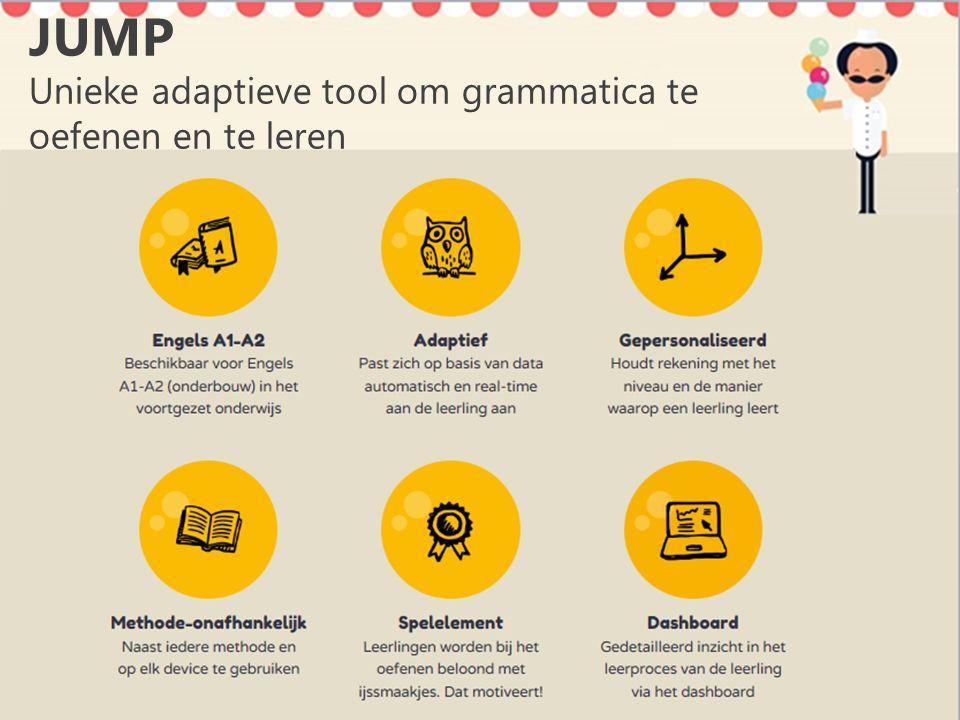JUMP Unieke adaptieve tool om grammatica te oefenen en te leren