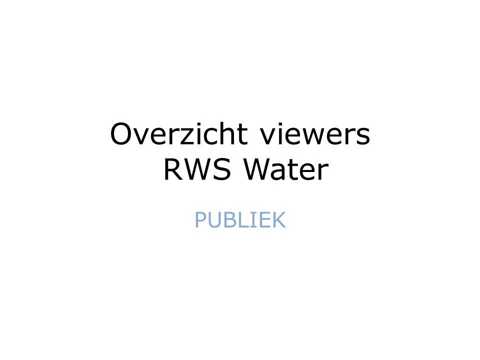 Overzicht viewers RWS Water PUBLIEK