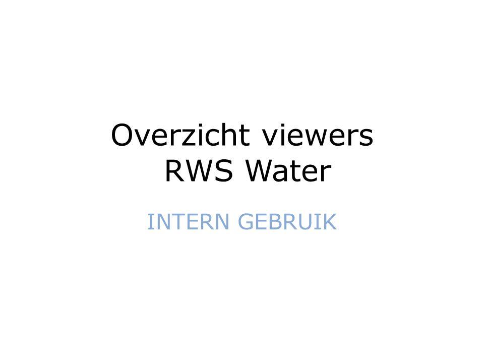 Overzicht viewers RWS Water INTERN GEBRUIK