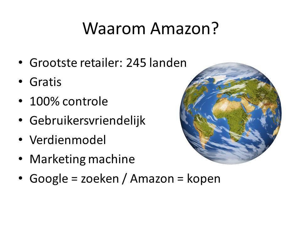 Waarom Amazon.