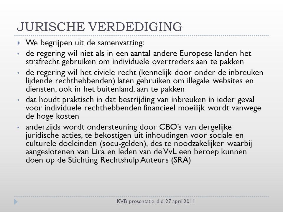 JURISCHE VERDEDIGING KVB-presentatie d.d.