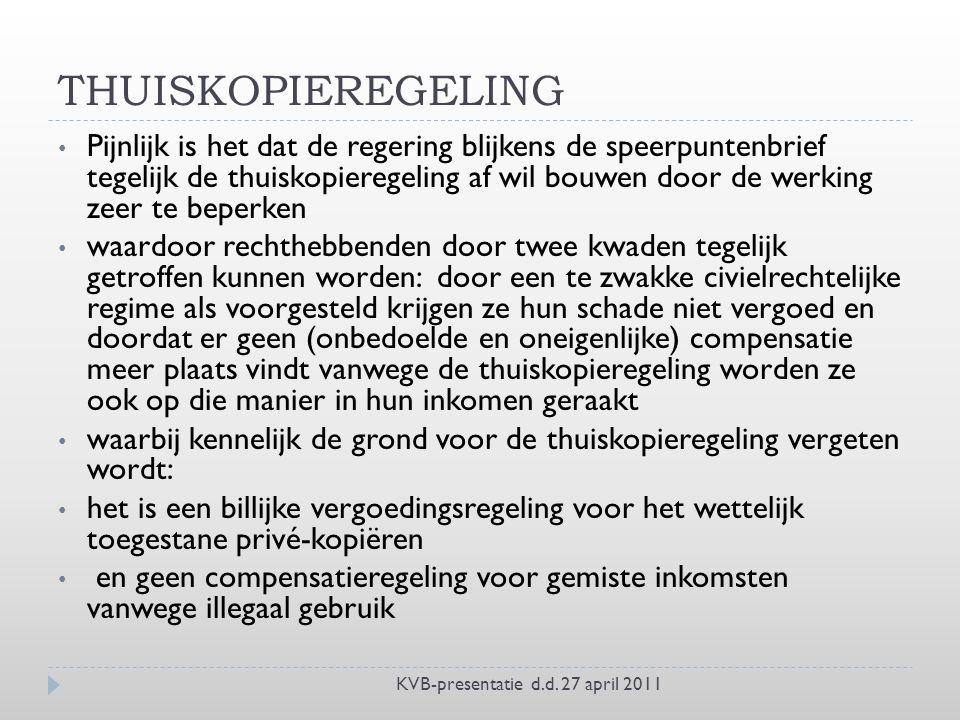 THUISKOPIEREGELING KVB-presentatie d.d.