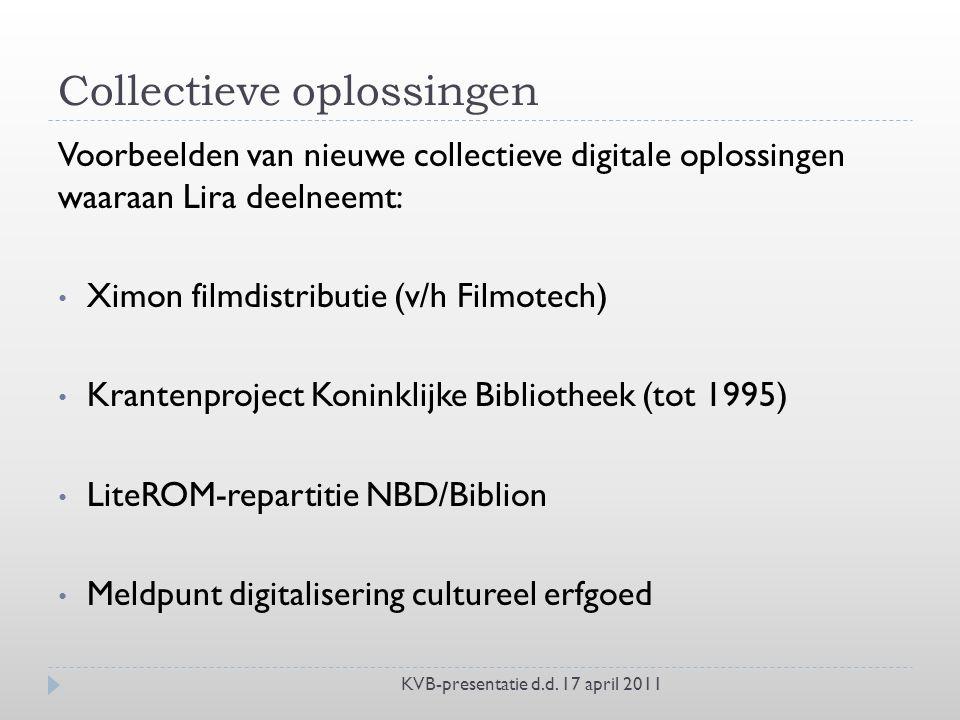 Collectieve oplossingen KVB-presentatie d.d.