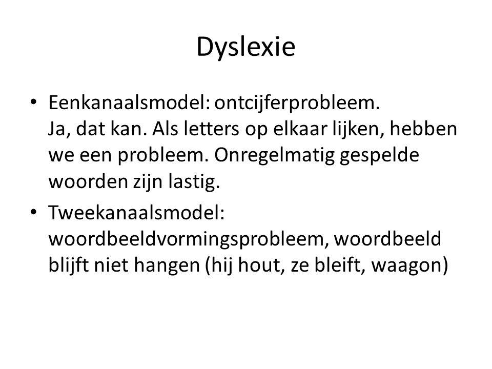 Dyslexie Eenkanaalsmodel: ontcijferprobleem. Ja, dat kan.