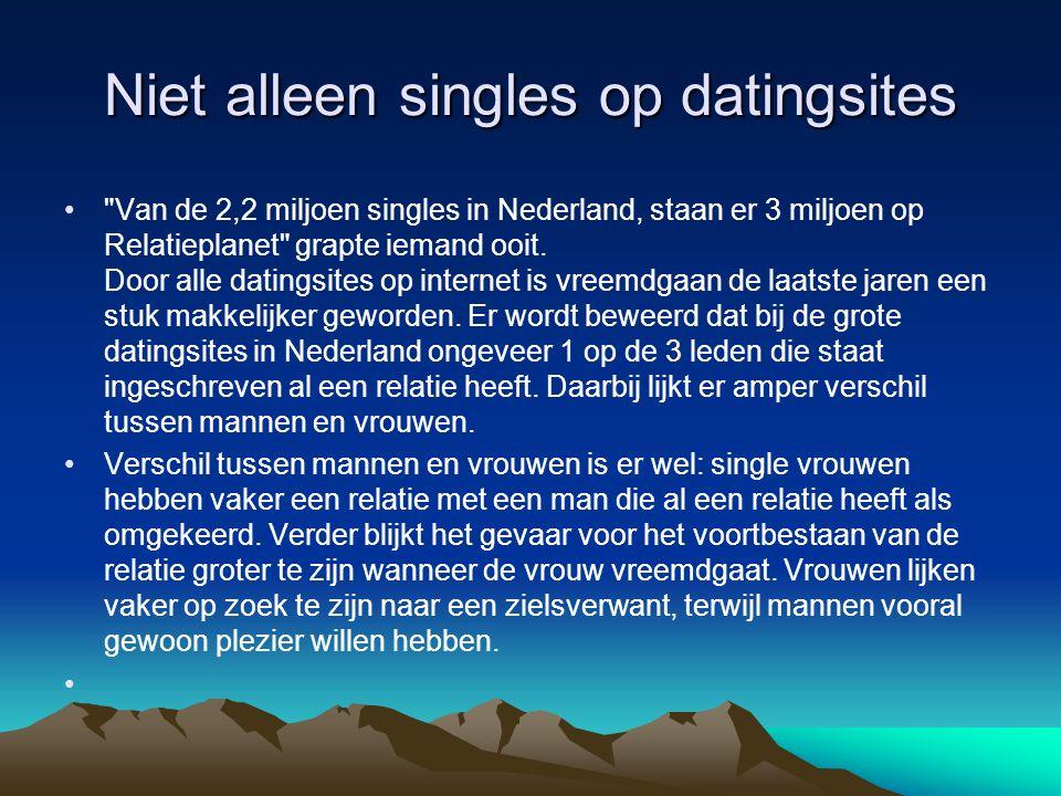 Niet alleen singles op datingsites