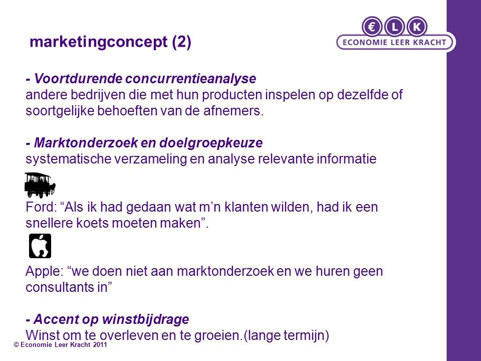 marketingconcept (2) - Voortdurende concurrentieanalyse andere bedrijven die met hun producten inspelen op dezelfde of soortgelijke behoeften van de afnemers.