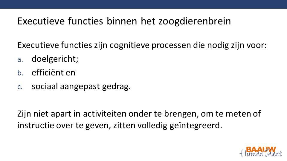 Executieve functies zijn cognitieve processen die nodig zijn voor: a.