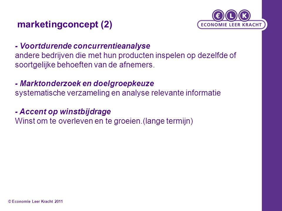marketingconcept (2) - Voortdurende concurrentieanalyse andere bedrijven die met hun producten inspelen op dezelfde of soortgelijke behoeften van de a