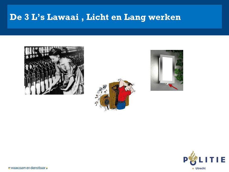 De 3 L's Lawaai, Licht en Lang werken
