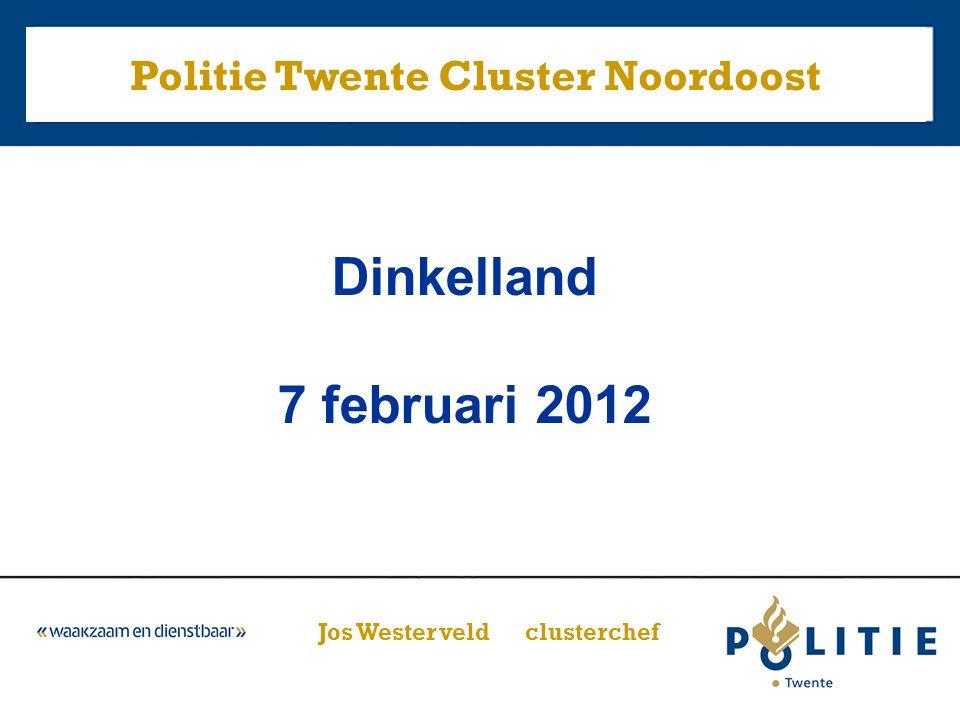 – Politie in Dinkelland anno nu – Keuzes en capaciteit – Veiligheidsbeeld 2011 Dinkelland – Speerpunten 2012 – Ontwikkelingen Nationale Politie Inhoud presentatie