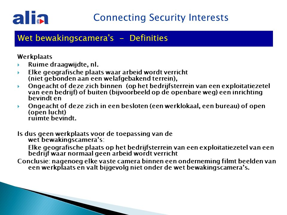 Connecting Security Interests Werkplaats  Ruime draagwijdte, nl.