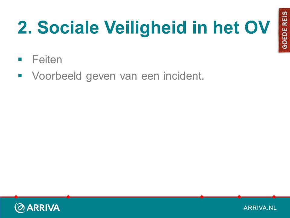 ARRIVA.NL 2. Sociale Veiligheid in het OV  Feiten  Voorbeeld geven van een incident.