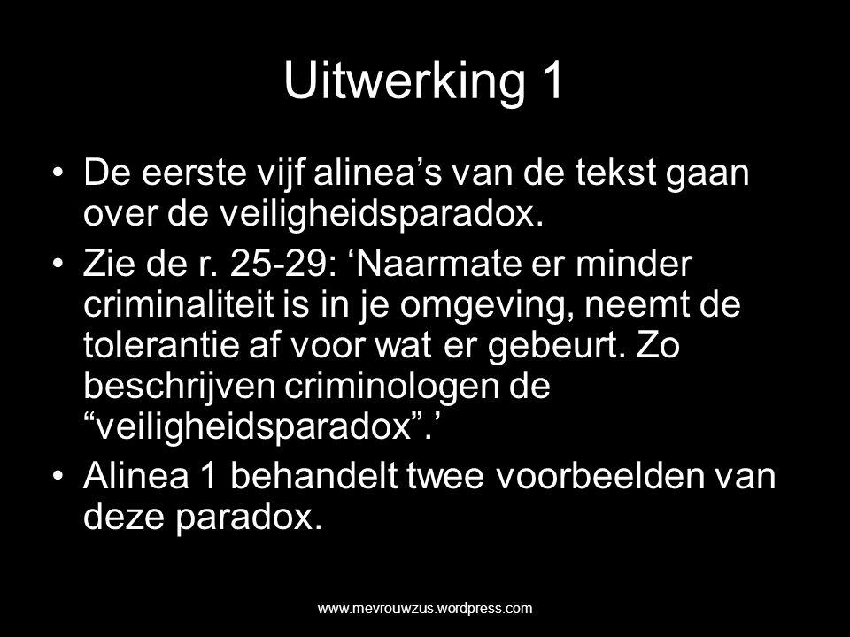 Uitwerking 11 Alinea 5 en 6 gaan over de daling van criminaliteitscijfers.