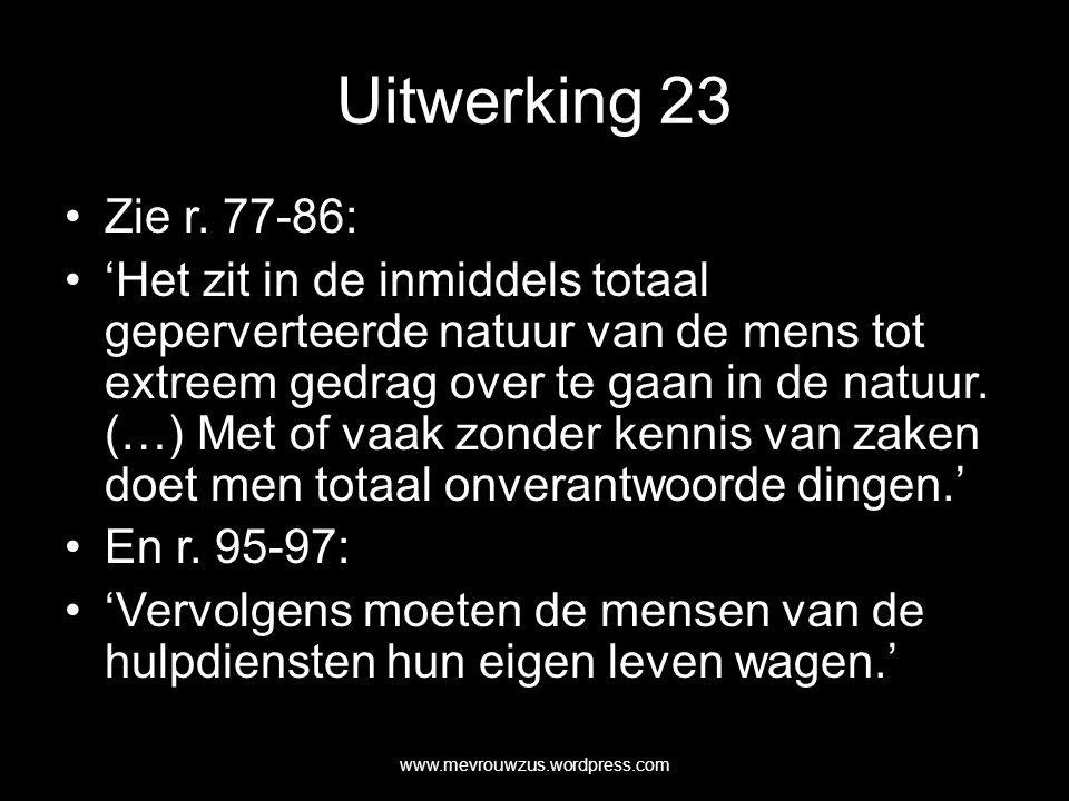 Uitwerking 23 Zie r.