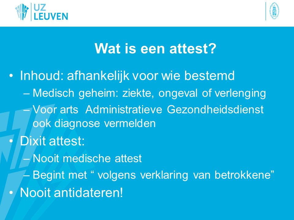 Wat is een attest.