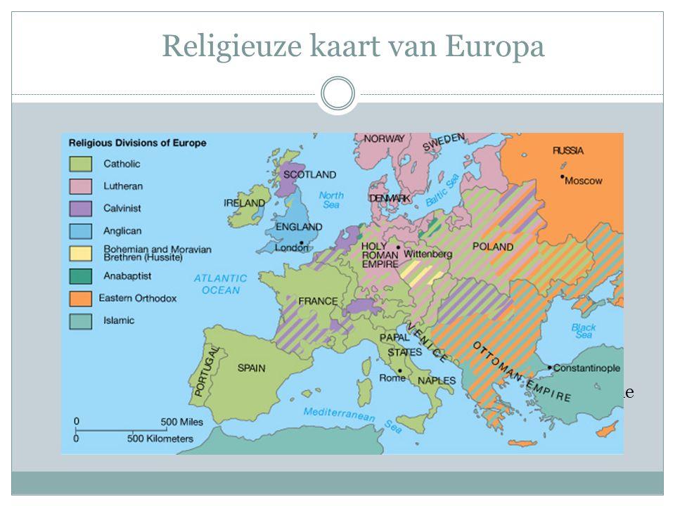 Religieuze kaart van Europa Menno Simons en de 'stillen in den lande' Menno Simons (1496-1561) Wedergeboorte door het geloof  geloofsdoopsel Pacifism