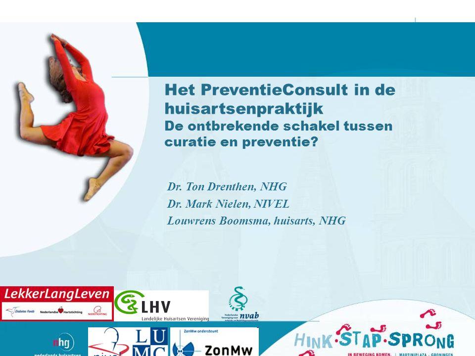 Het PreventieConsult in de huisartsenpraktijk De ontbrekende schakel tussen curatie en preventie.