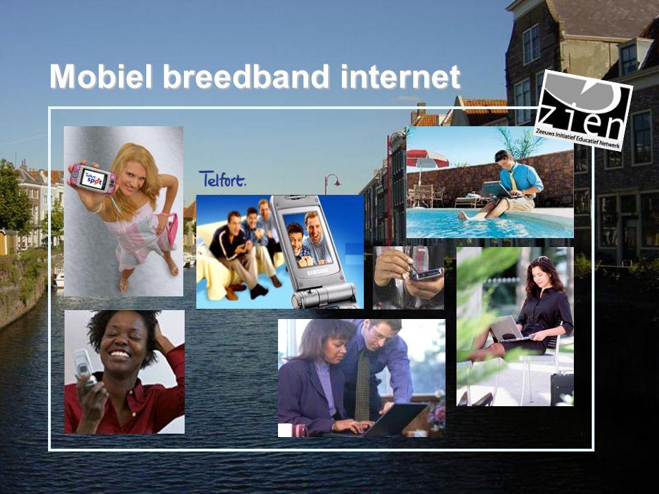  Een gewone internetverbinding maar dan mobiel  Overal in Nederland via GPRS of EDGE, op veel plaatsen via UMTS (of HSDPA), op sommige plaatsen via WLAN (wifi).