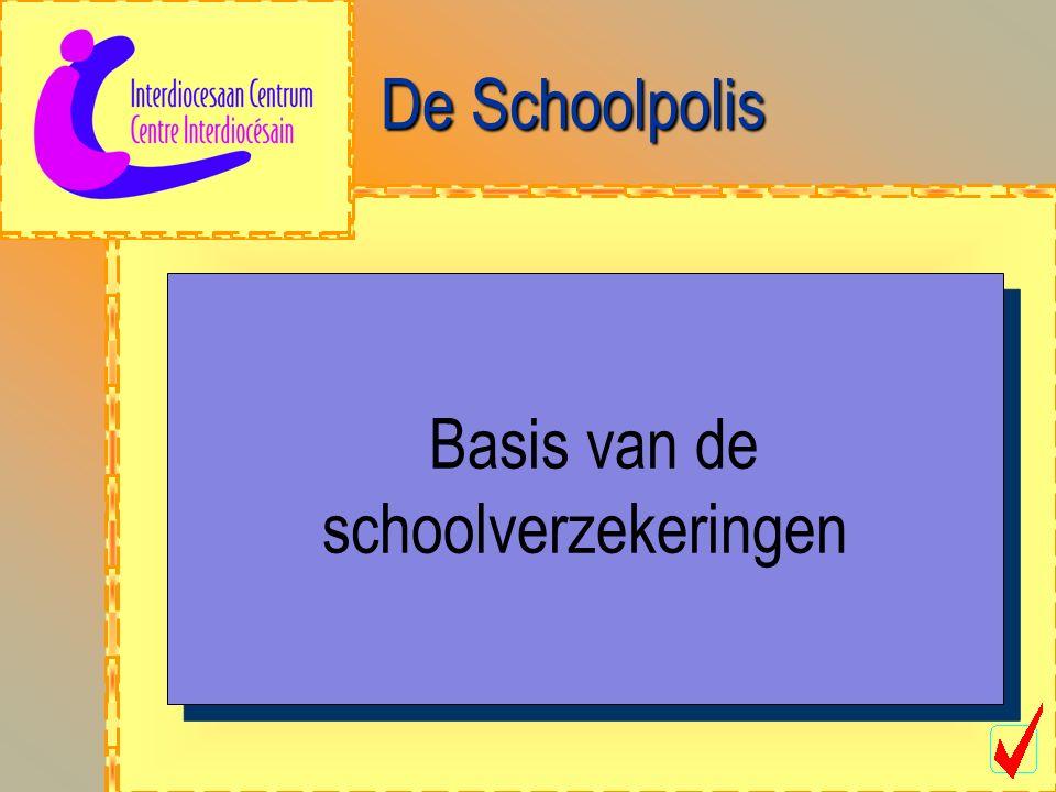De Schoolpolis Basis van de schoolverzekeringen