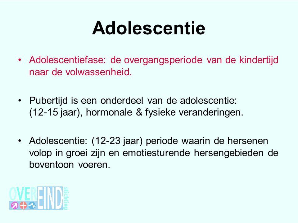 Adolescentie Adolescentiefase: de overgangsperiode van de kindertijd naar de volwassenheid.