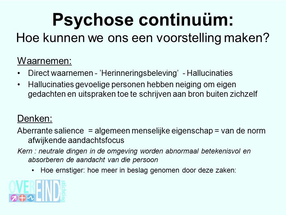 Psychose continuüm: Hoe kunnen we ons een voorstelling maken.