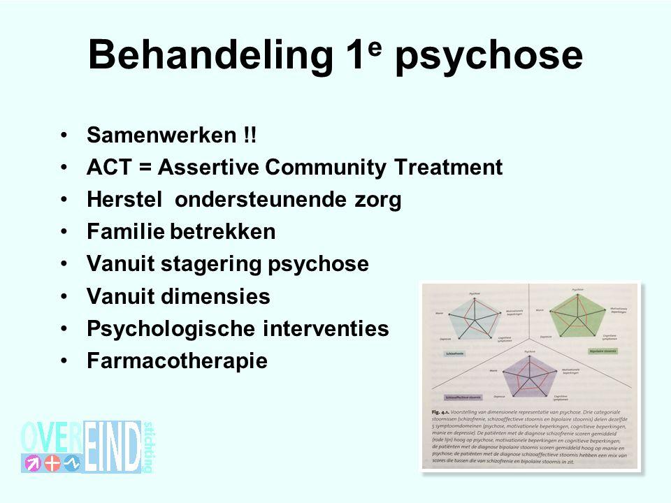 Behandeling 1 e psychose Samenwerken !.
