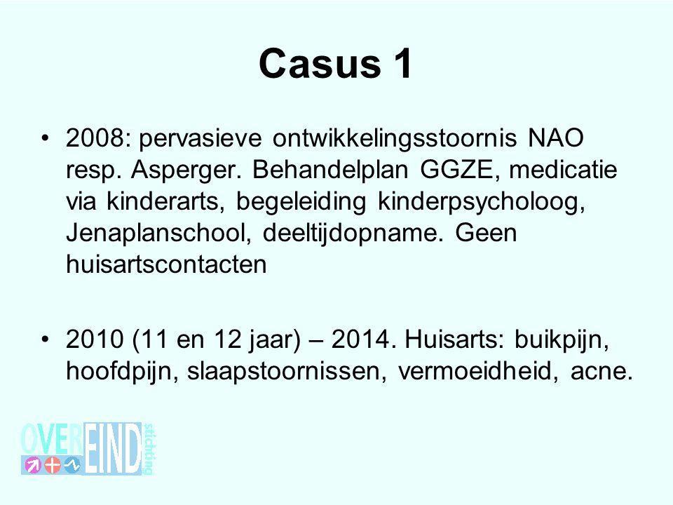 Casus 1 2008: pervasieve ontwikkelingsstoornis NAO resp.
