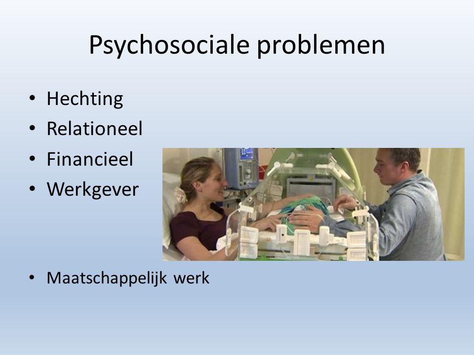 Psychosociale problemen Hechting Relationeel Financieel Werkgever Maatschappelijk werk