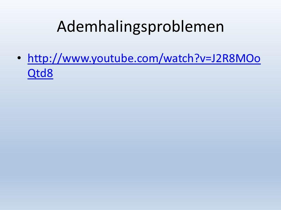 Ademhalingsproblemen http://www.youtube.com/watch?v=J2R8MOo Qtd8 http://www.youtube.com/watch?v=J2R8MOo Qtd8