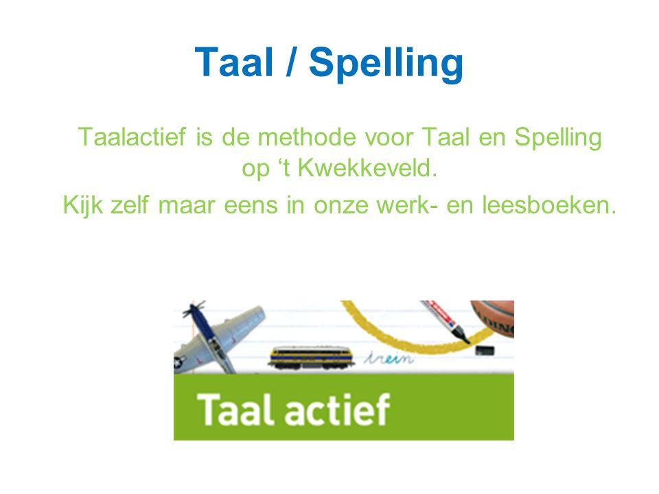 Taal / Spelling Taalactief is de methode voor Taal en Spelling op 't Kwekkeveld.