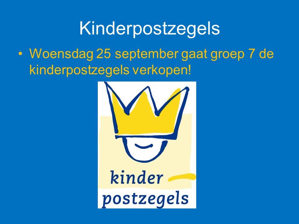 Kinderpostzegels Woensdag 25 september gaat groep 7 de kinderpostzegels verkopen!