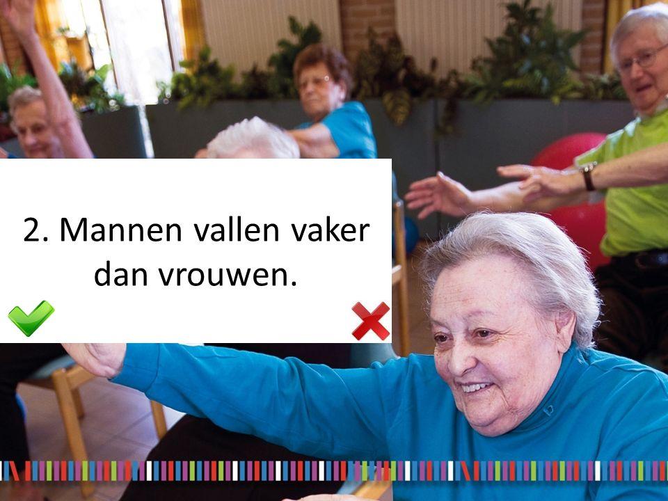 3. Vallen hoort bij het ouder worden, je kan hier niets aan doen.