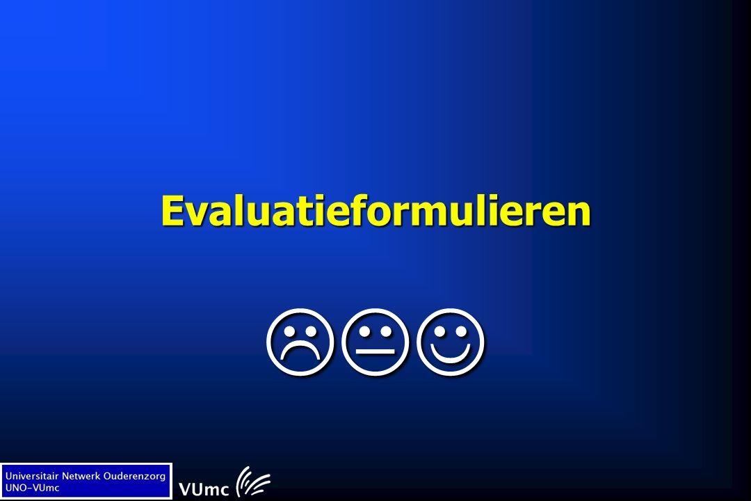Evaluatieformulieren 