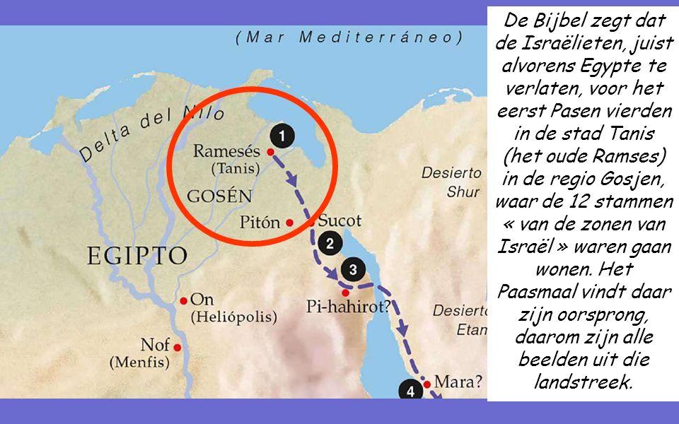 De Bijbel zegt dat de Israëlieten, juist alvorens Egypte te verlaten, voor het eerst Pasen vierden in de stad Tanis (het oude Ramses) in de regio Gosjen, waar de 12 stammen « van de zonen van Israël » waren gaan wonen.